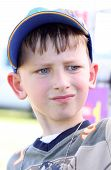 Young boy with baseball cap