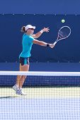 Grand Slam champion Samantha Stosur practices for US Open 2014