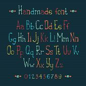 pic of symbol punctuation  - Simple colorful hand drawn font - JPG