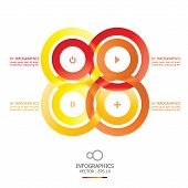 Modern Overlap Infinity Circle Business Infographic