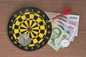 Dart target clock and Money