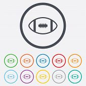 American football sign icon. Team sport game.