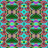 seamless geometry vintage pattern, ethnic style ornamental backg