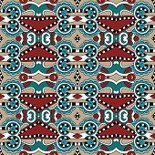 Seamless geometry vintage pattern