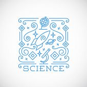 Line Style Science Vector Illustration