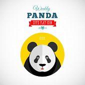 Weekly Panda Cute Flat Animal Icon Kiss