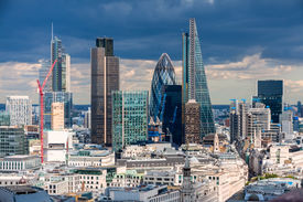 stock photo of willy  - The City of London in the afternoon - JPG