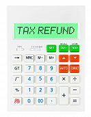 Calculator With Tax Refund