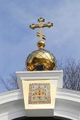 Traditional golden dome at Russian Orthodox Church