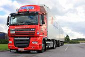 Red Daf XF105 Reefer Truck