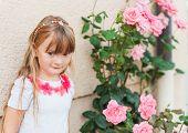 Summer portrait of a cute little girl