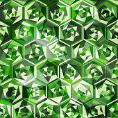 Emeralds Seamless Pattern