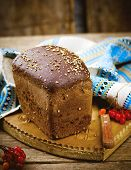 Traditional Russian Rye Borodino Bread