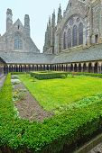 The Gothic Gallery Of St. Michael Monastery. Mont Saint-michel, France.