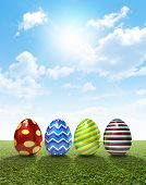 Easter Egss On Lawn