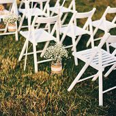Wedding chairs in the wedding ceremony
