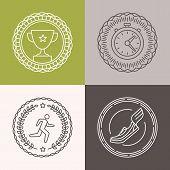 Vector Linear Runnig Badges
