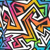 picture of graffiti  - spectrum color graffiti seamless pattern  - JPG