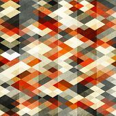 Vintage Red Rhombus Seamless Pattern