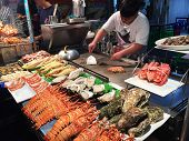 Chief Prepares Seafood To Be Sold In Kaohsiung Night Market