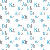 Vector Seamless Pattern Of English Letters