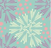 Vector seamless pattern. Hand drawn floral texture.