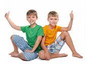 Two Joyful Young Boys