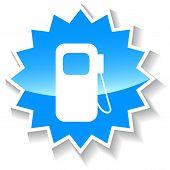 image of petrol  - Petrol web blue icon on a white background - JPG