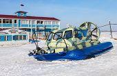 Hovercraft Transporter On The Volga Embankment In Samara, Russia