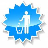 Trash blue icon