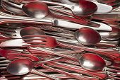Silverware Pile Red