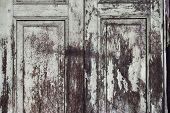Paint Peeling Wooden Old Door Texture