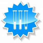 Tubes blue icon