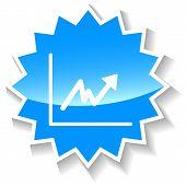 Graph blue icon