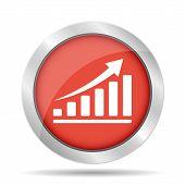 Vector Red Economic Icons