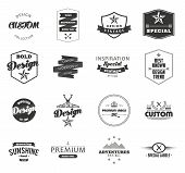 Retro Vintage Insignias or Logotypes set. Vector design elements, business signs, logos, identity, l