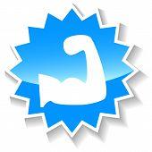 Strength blue icon