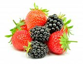 blackberry and strawberry