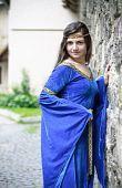 Medieval Princess On Street poster
