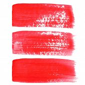 Red ink vector brush strokes