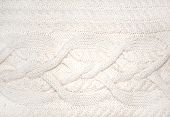 White wool luxurious braided handmade knitwork