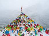 Buddhist tibetan prayer flags