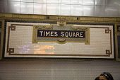 Sign of Time Square Subway Station