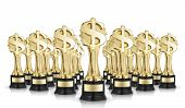 Dollar Sign Trophies
