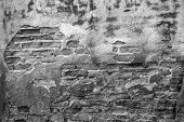 High Resolution Pictures Vintage Monochrome Pattern Of Old Brick Wall