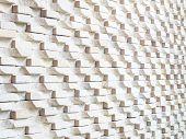 White Stone Brick Wall Background