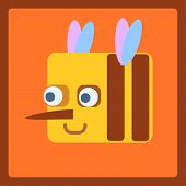 Bee Stylized Cartoon Icon