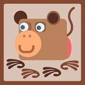 Monkey Stylized Cartoon Icon