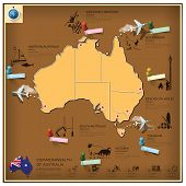 Commonwealth Of Australia Landmark Business And Travel Infographic