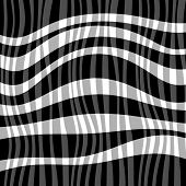 striped black-and-white background